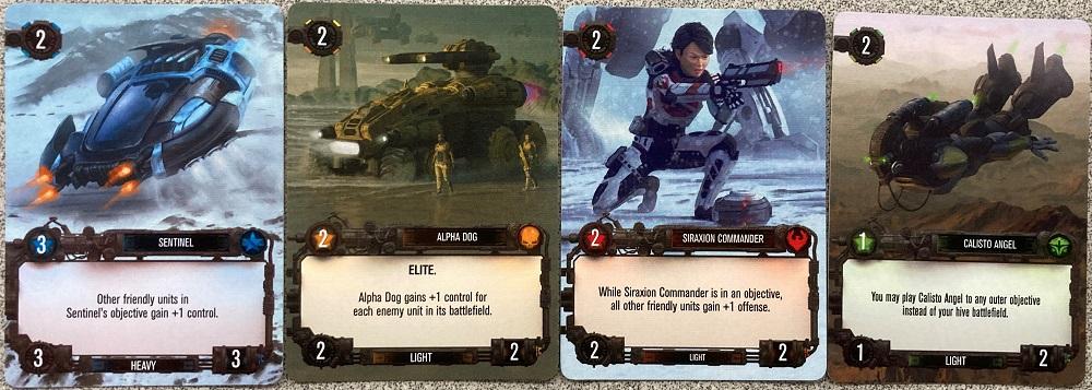 unit cards