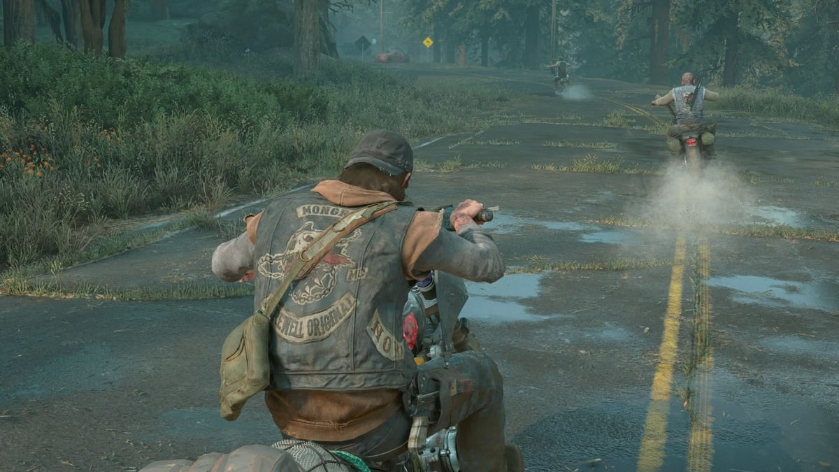 Chasing Leon in the opening scene of Days Gone