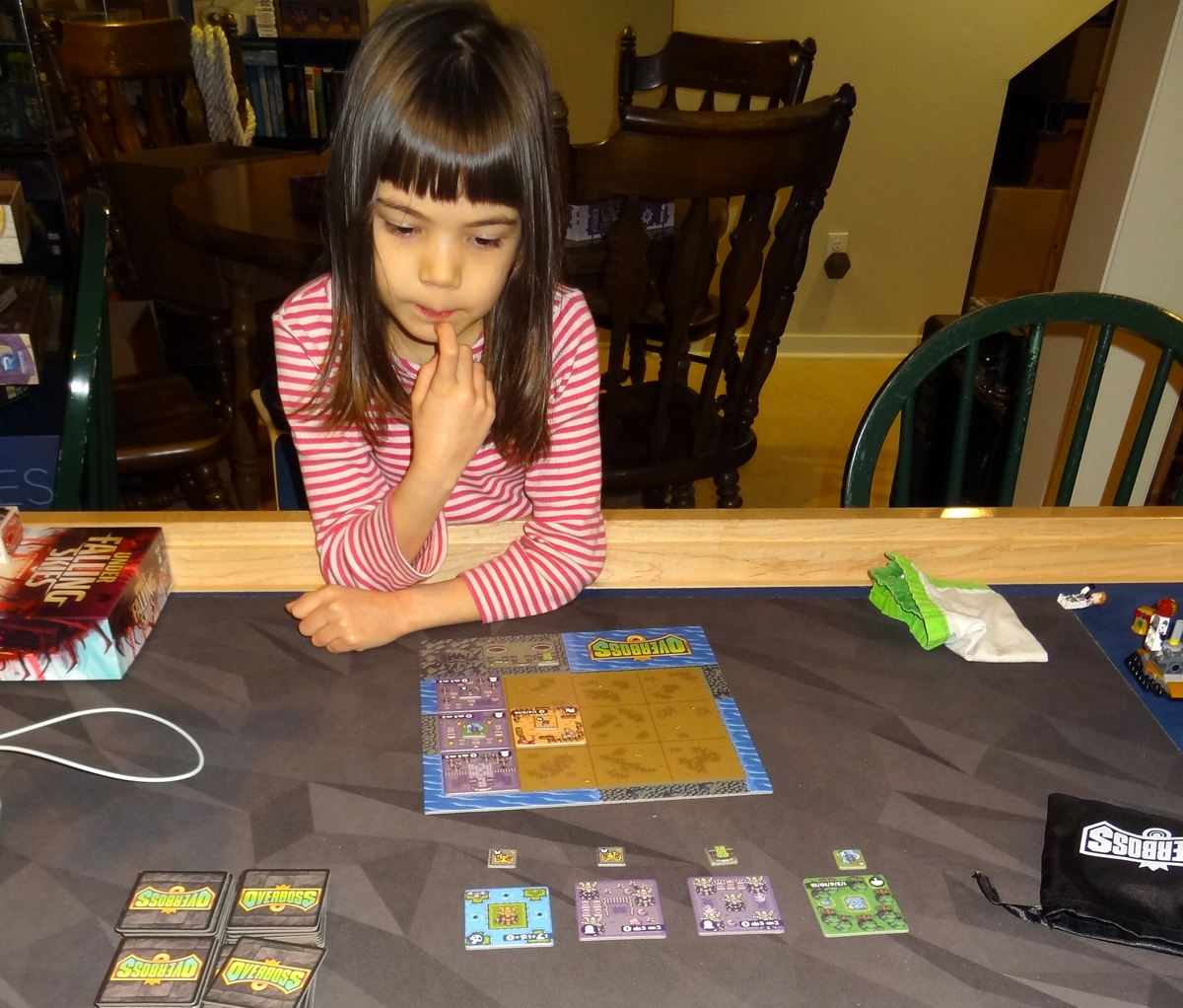 Daughter playing Overboss