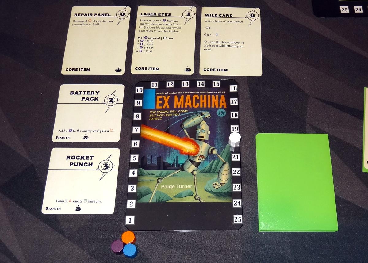 Paperback Adventures Ex Machina setup