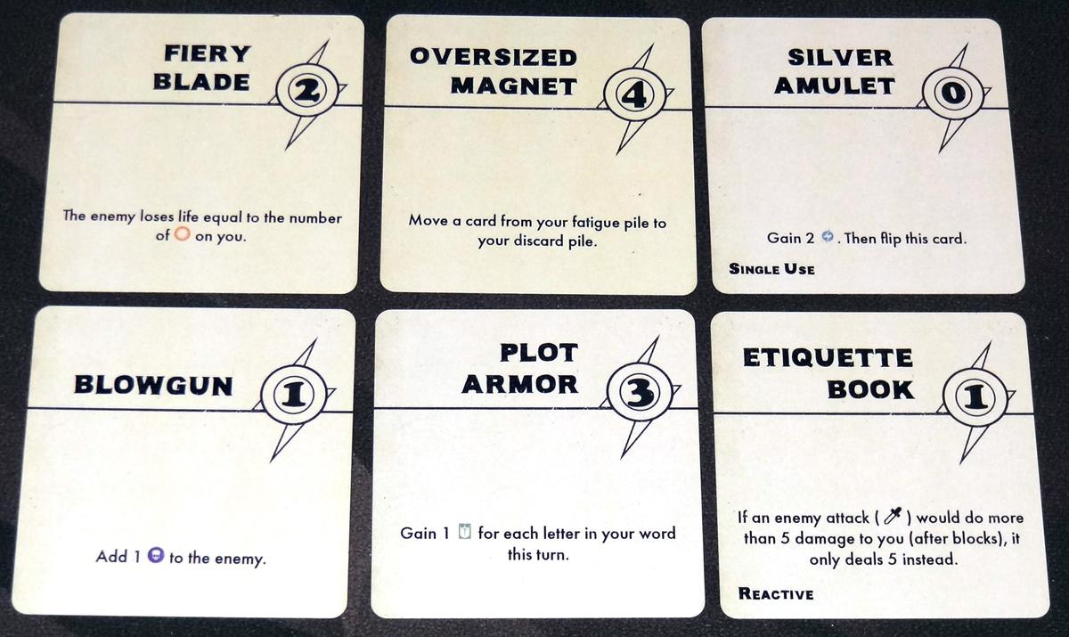 Paperback Adventures item cards