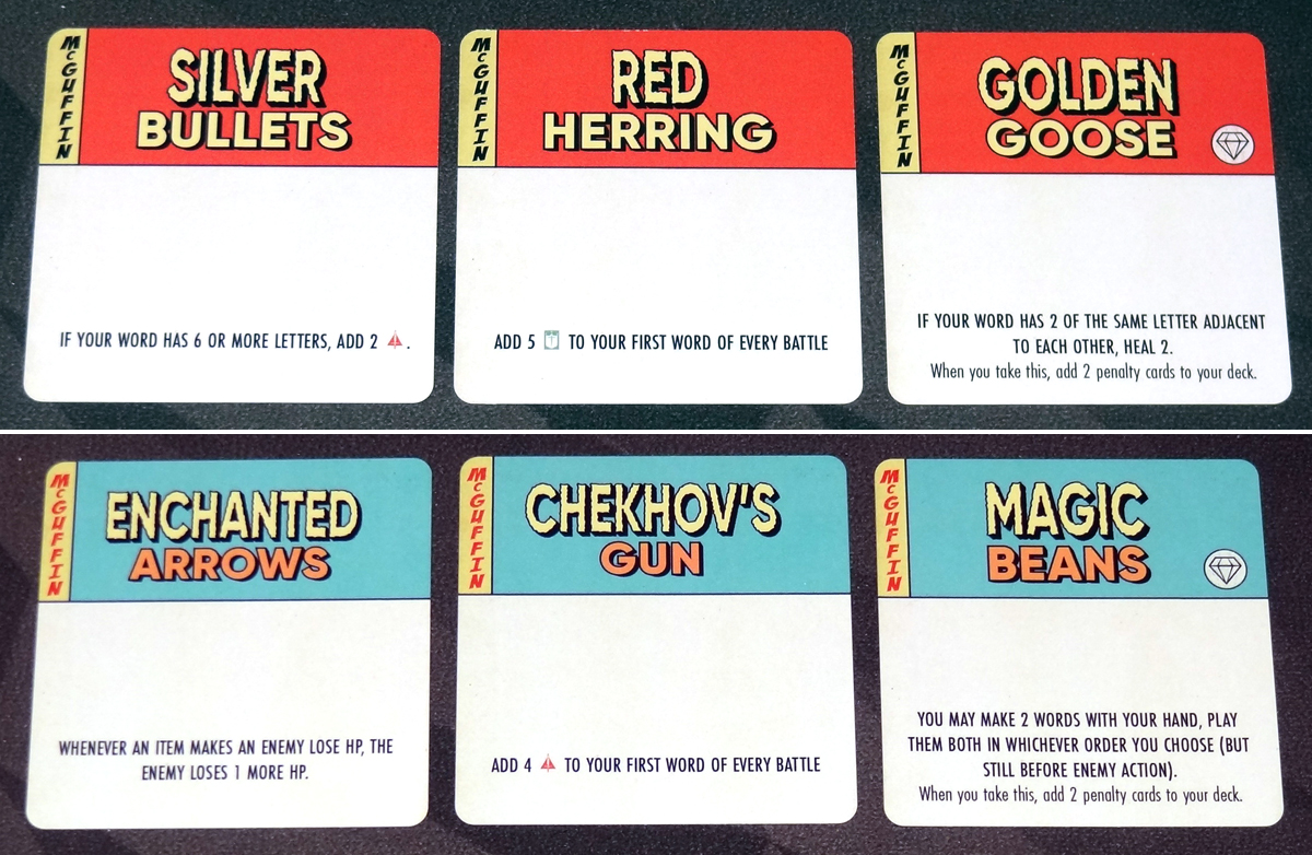 Paperback Adventures McGuffin cards
