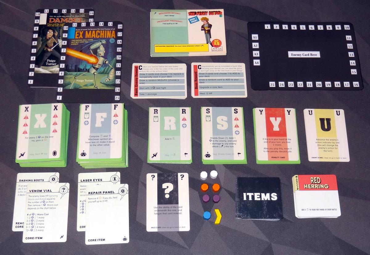 Paperback Adventures components