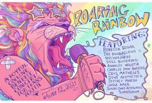 Roaring Rainbow concert poster