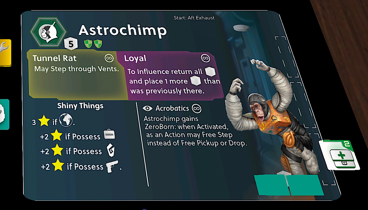 Stationfall Astrochimp character card