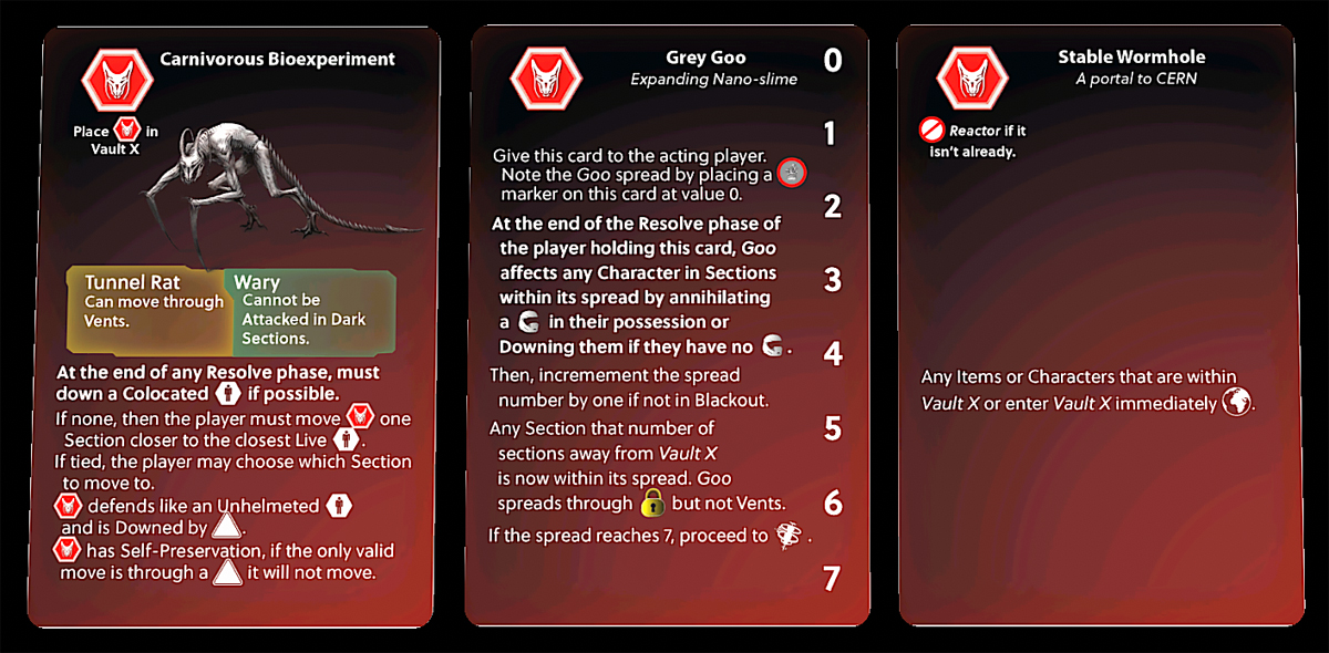 Stationfall Project X cards