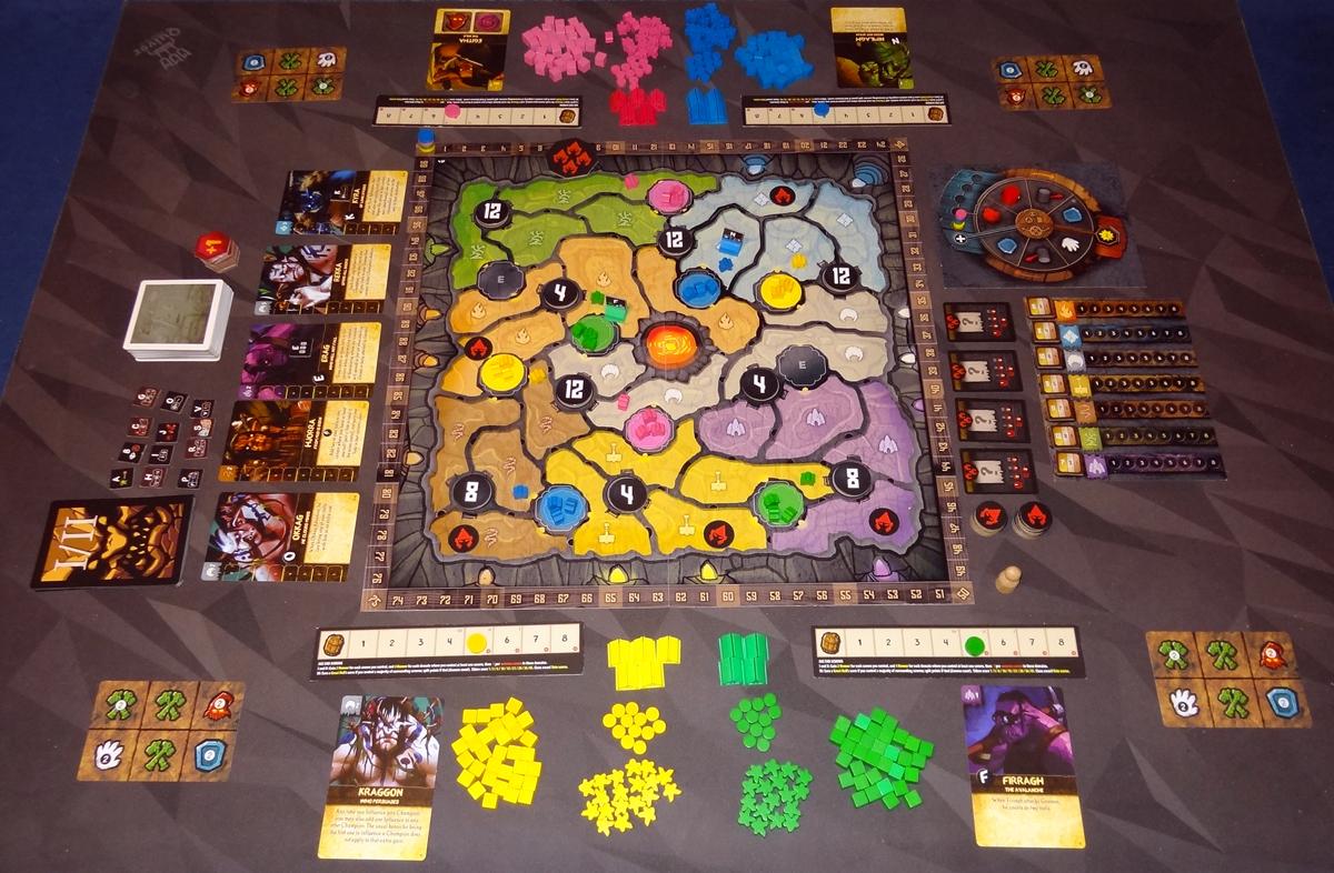 Fall of the Mountain King 4-player setup