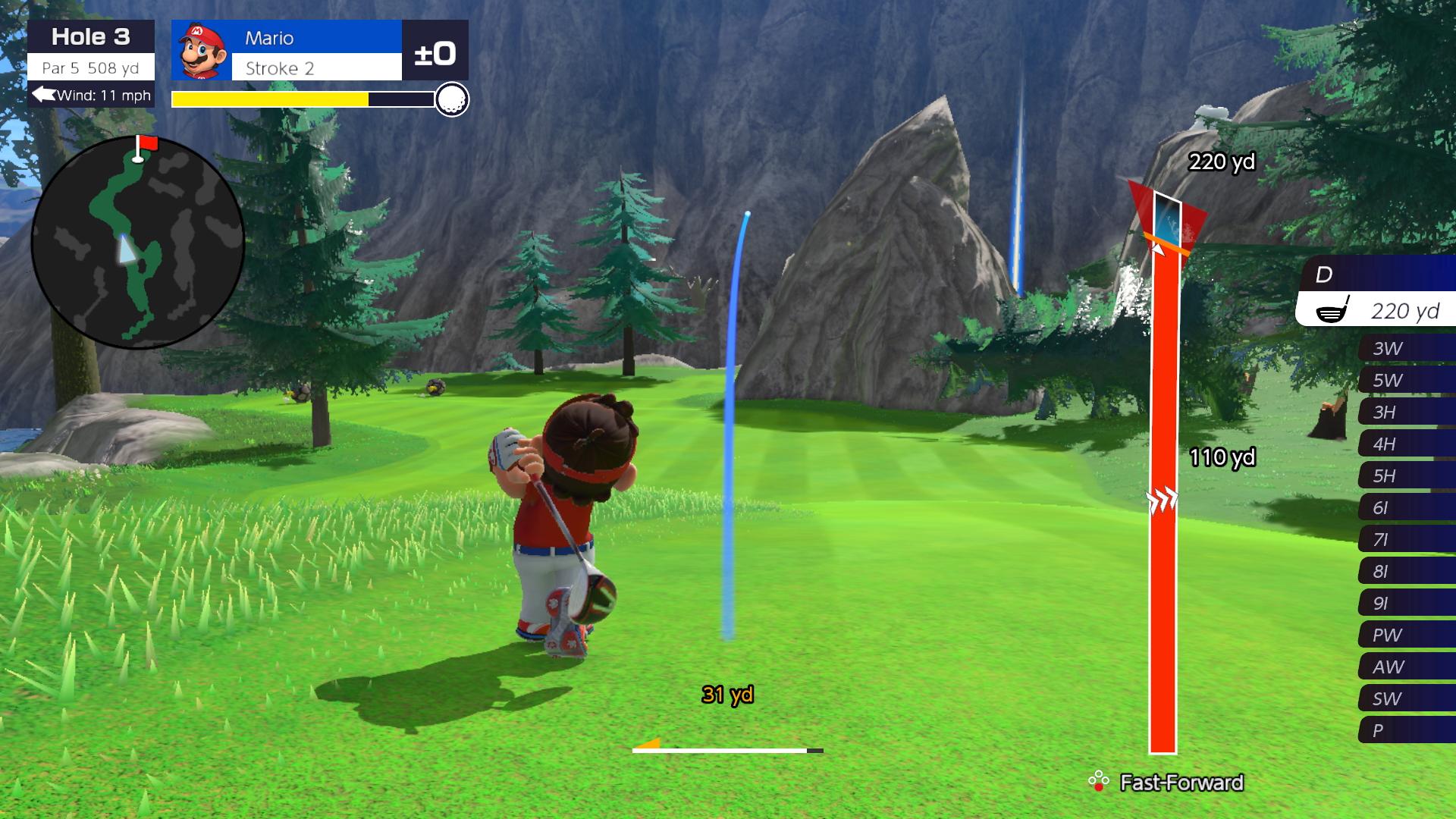 Mario Golf: Super Rush drive
