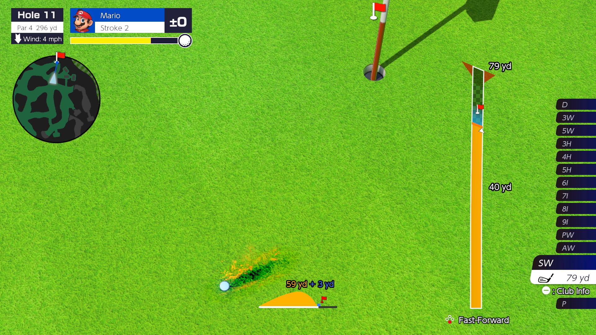 Mario Golf: Super Rush backspin