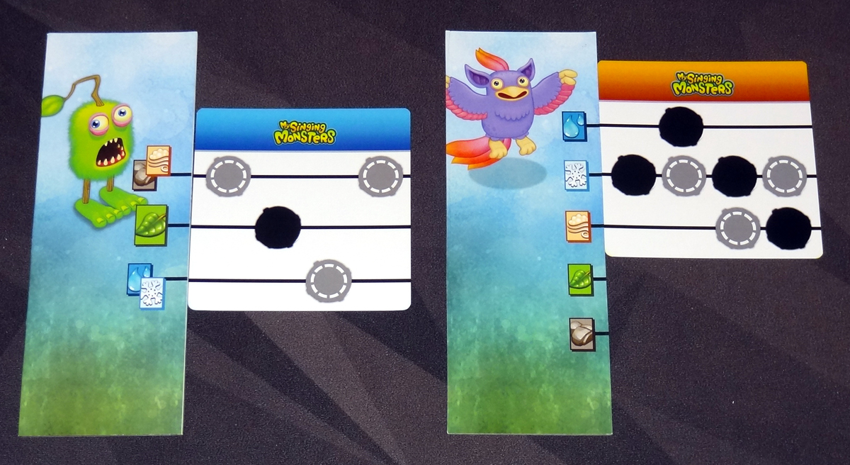 My Singing Monsters element strips and music cards