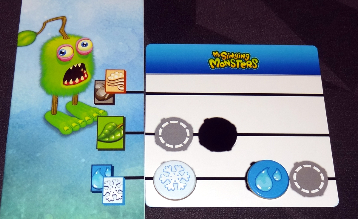 My Singing Monsters placing elements on music cards