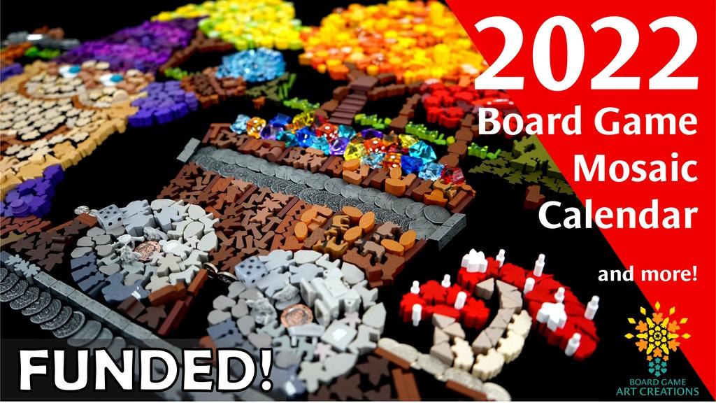 Board Game Mosaic calendar