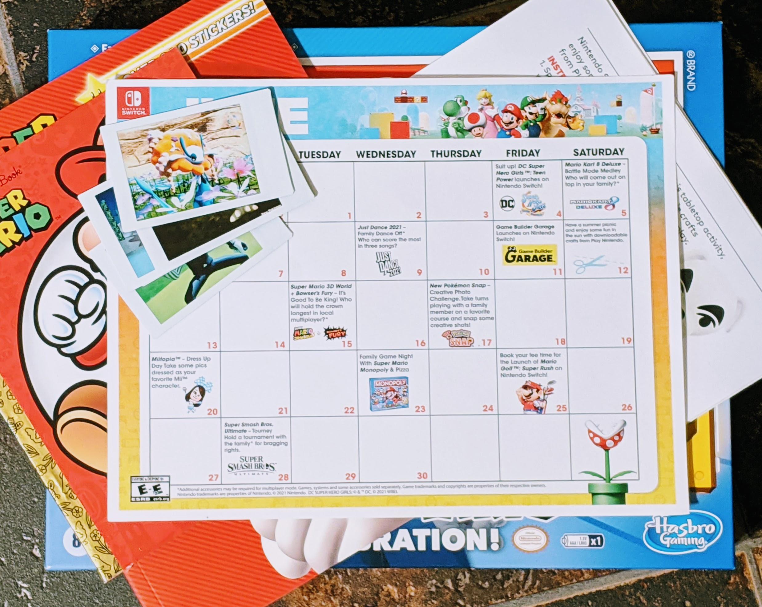 June Nintendo activity calendar