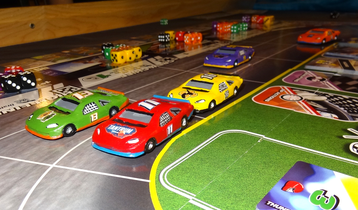 Thunder Rolls - cars on racetrack