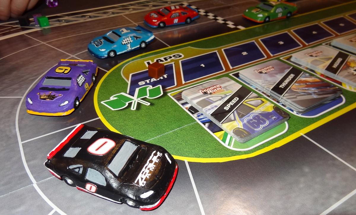 Thunder Rolls cars on track