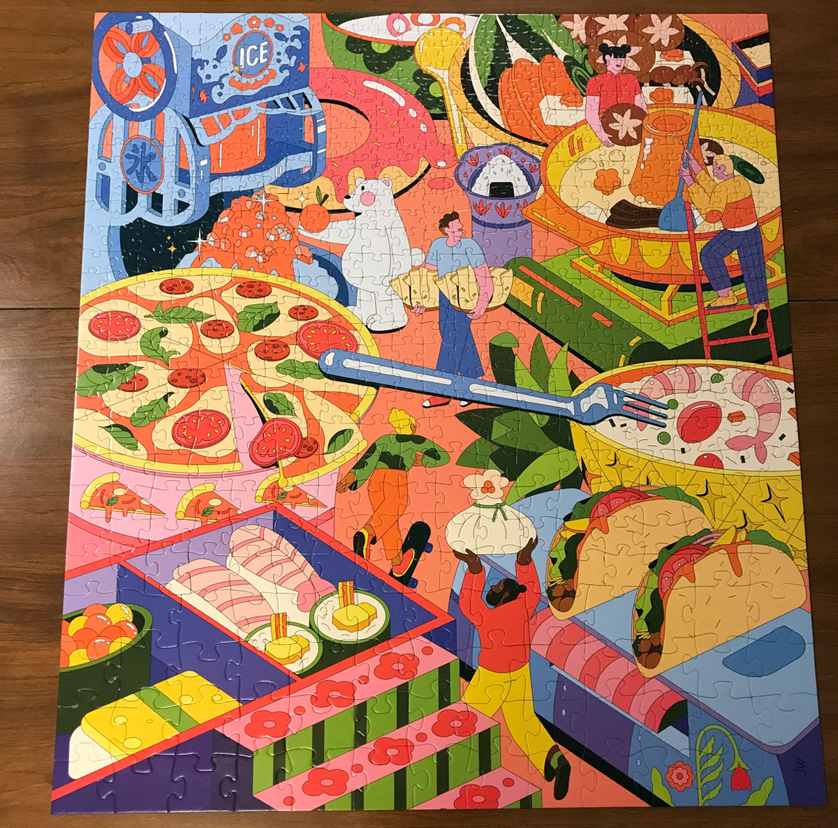 Food Fest Puzzle finished