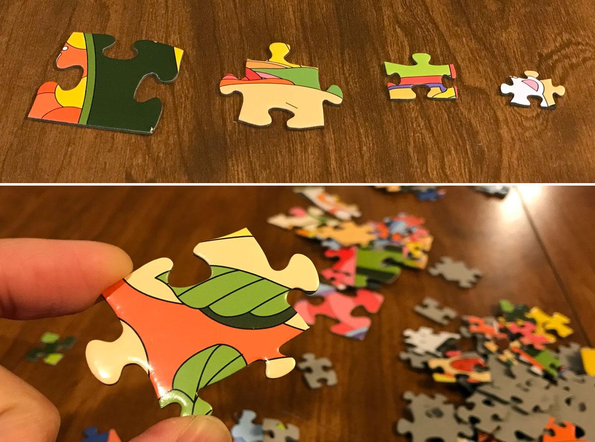 Food Fest Puzzle - multi sized pieces