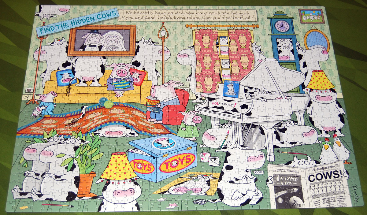 Hidden Cows puzzle finished