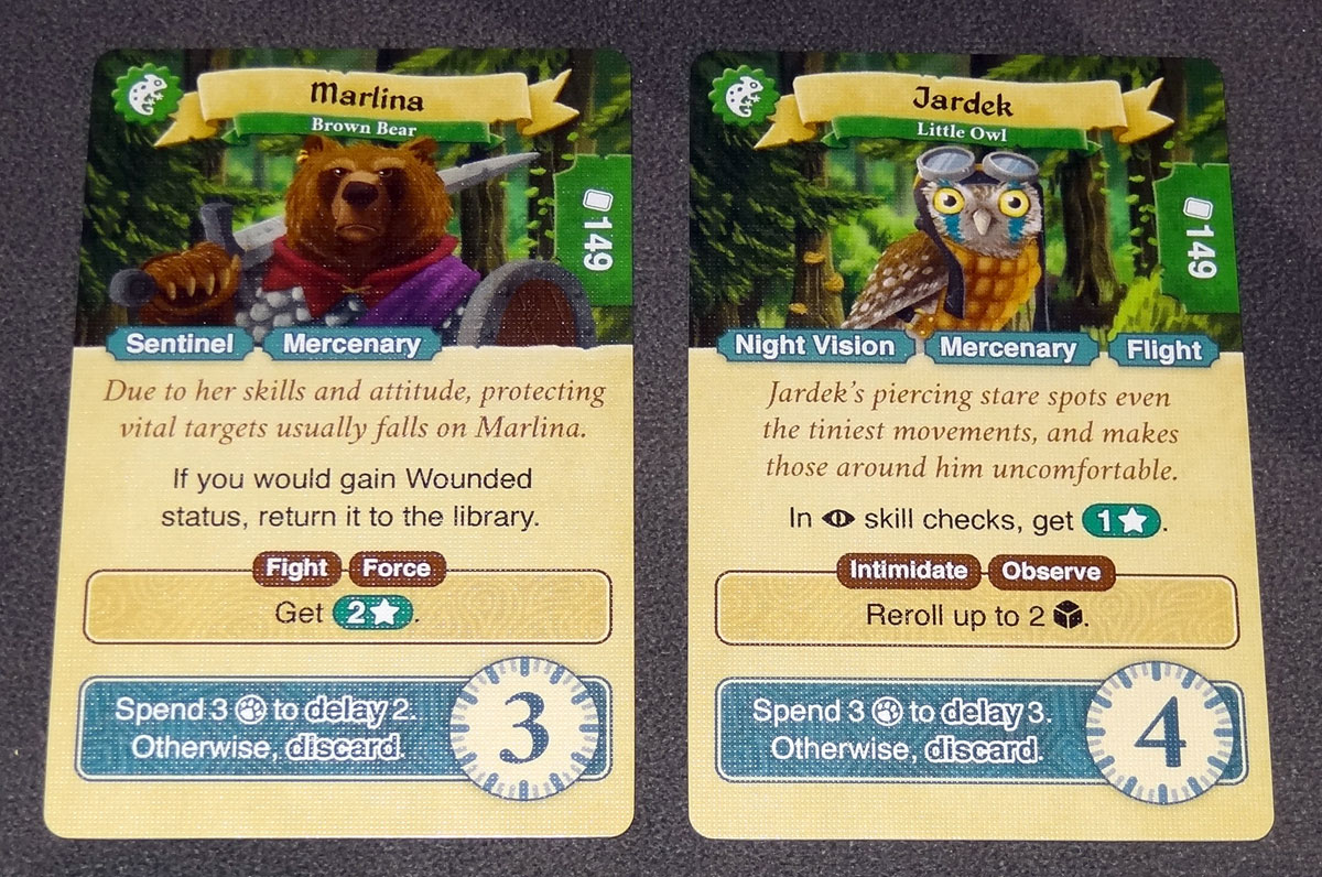 Lands of Galzyr companion cards