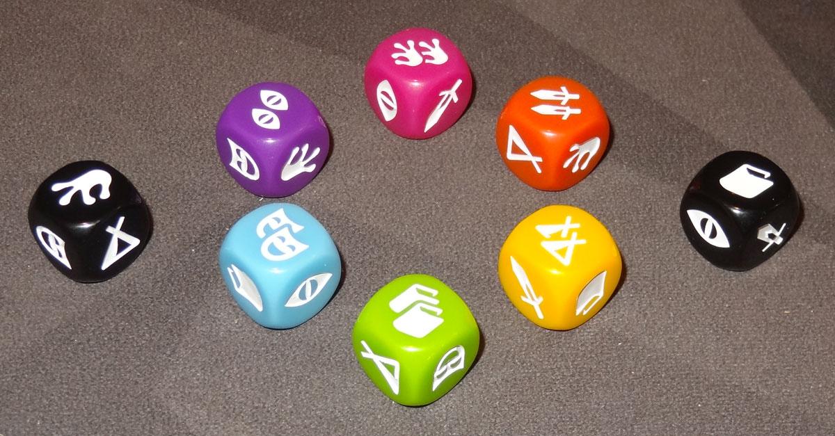 Lands of Galzyr dice