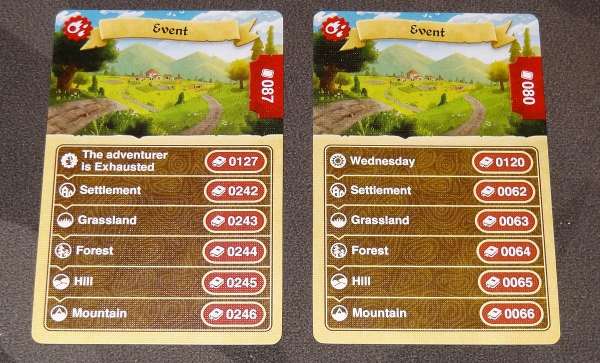 Lands of Galzyr event cards