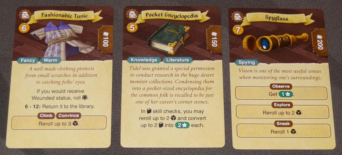 Lands of Galzyr item cards