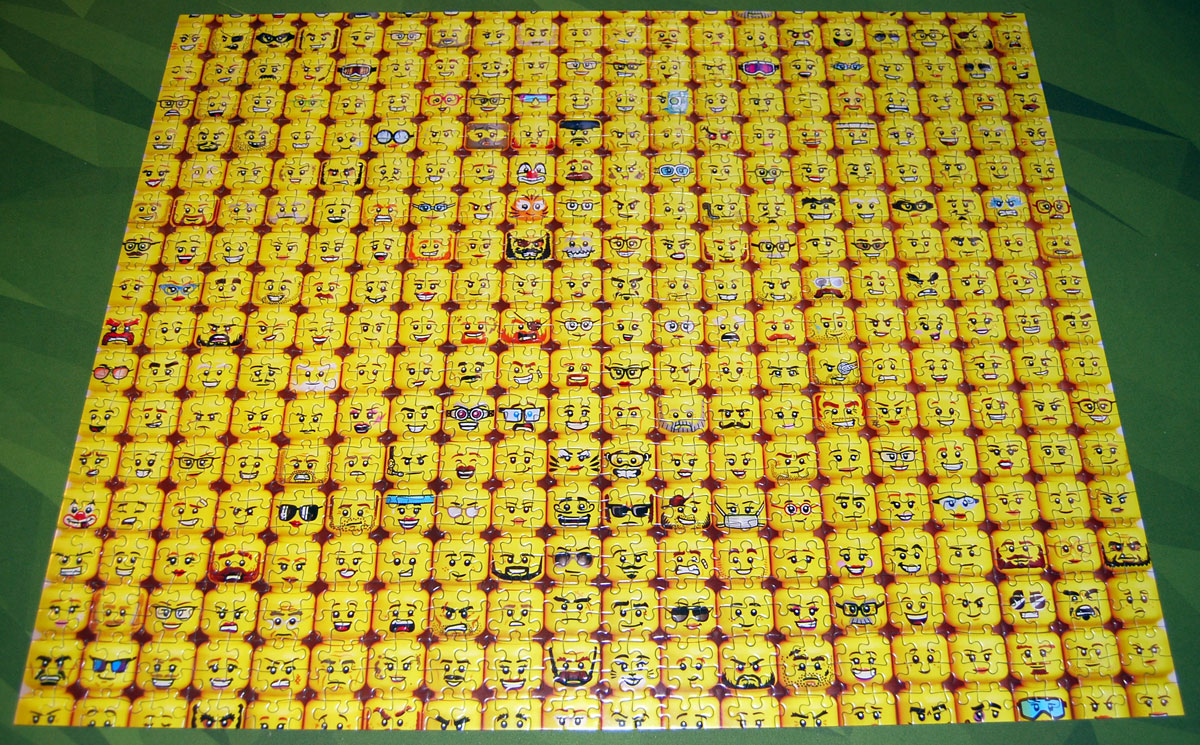 LEGO Minifigure Faces puzzle completed