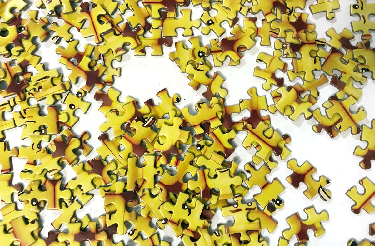 LEGO Minifigure Faces puzzle pieces