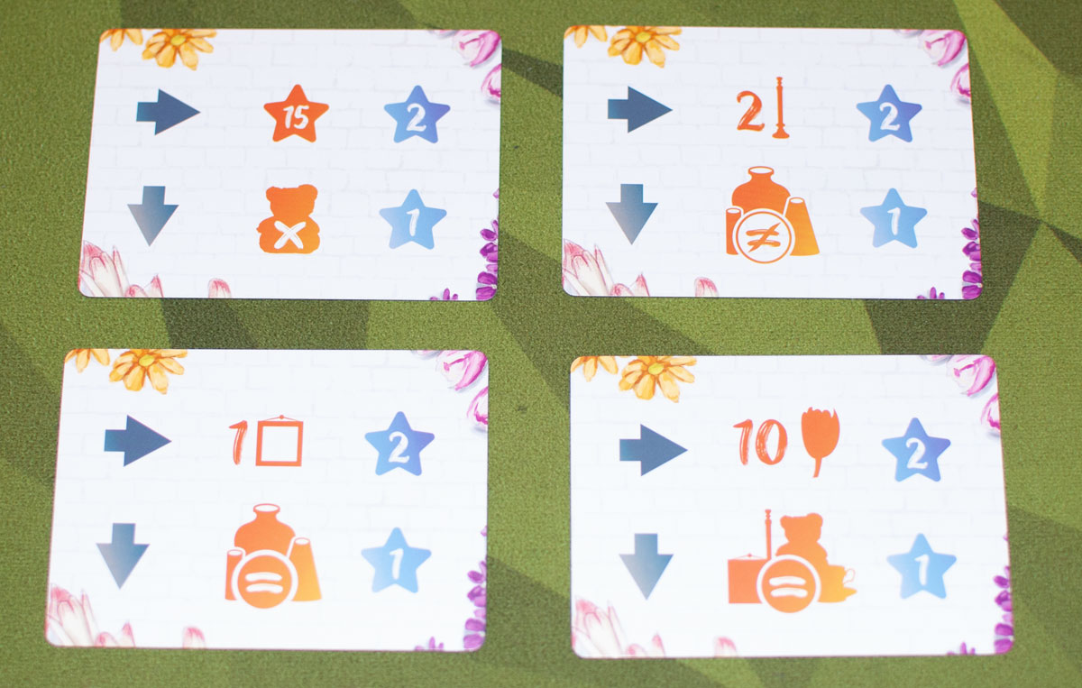 The Little Flower Shop Dice Game task cards