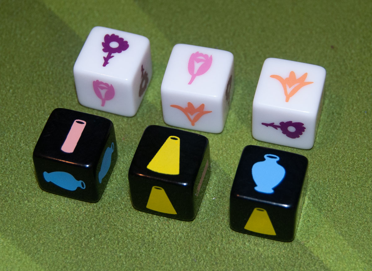 The Little Flower Shop Dice Game - dice