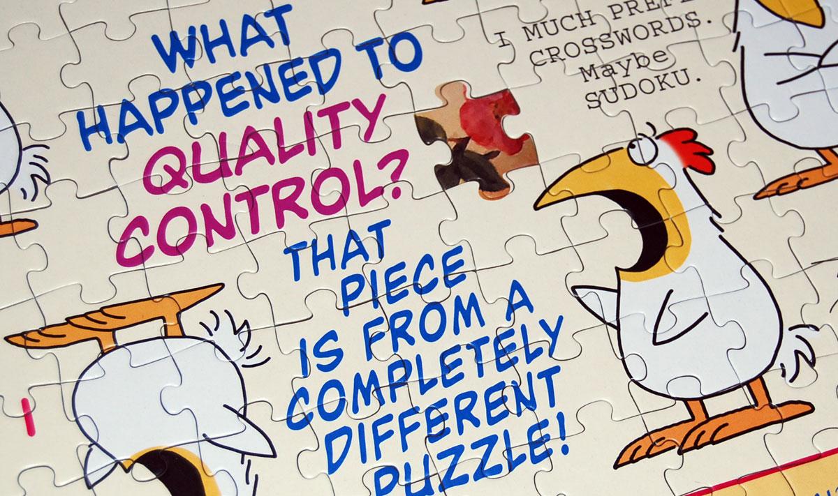 Puzzle Complaints puzzle - closeup