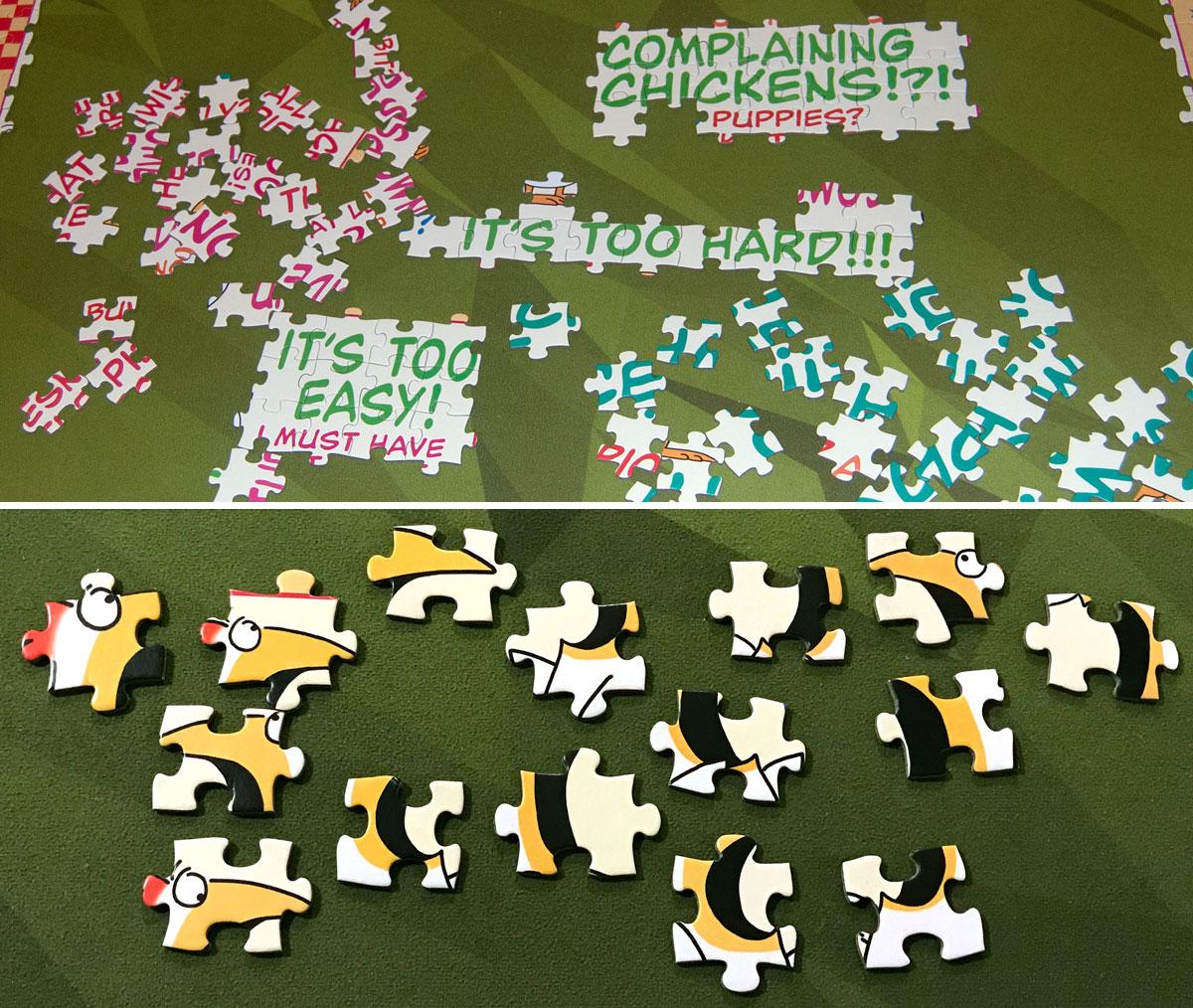 Puzzle Complaints Puzzle in progress