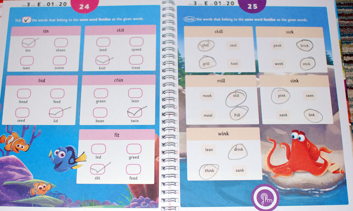 Byju reading worksheet