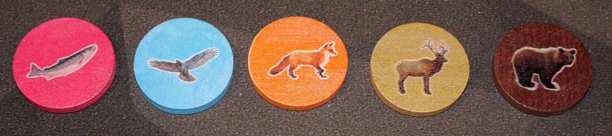 Cascadia wildlife tokens