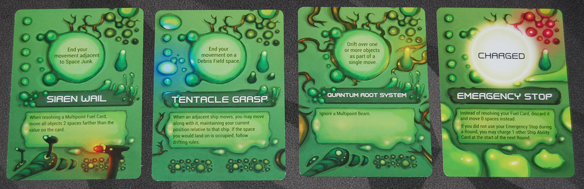 Gravwell 2nd Edition Green Ability cards