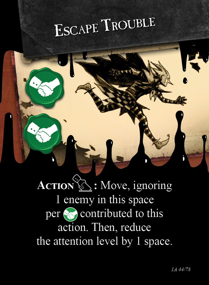 stained action cards
