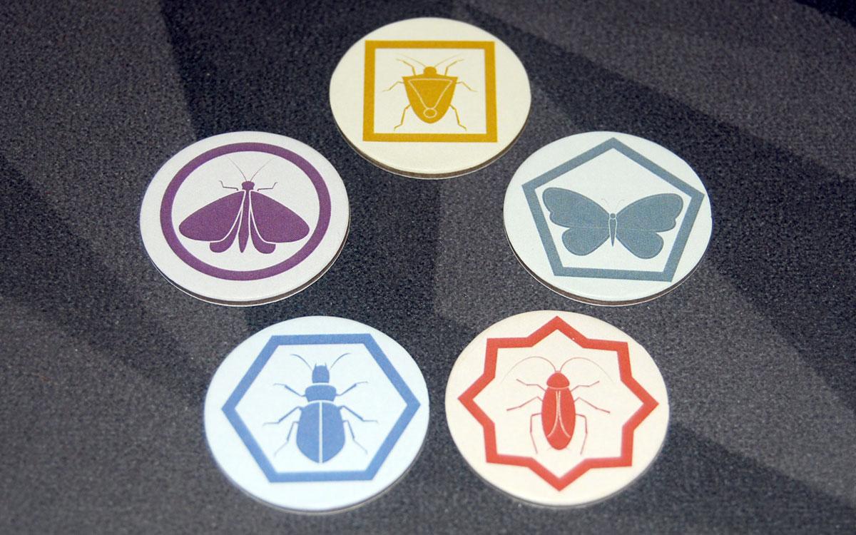 Birdwatcher insect tokens