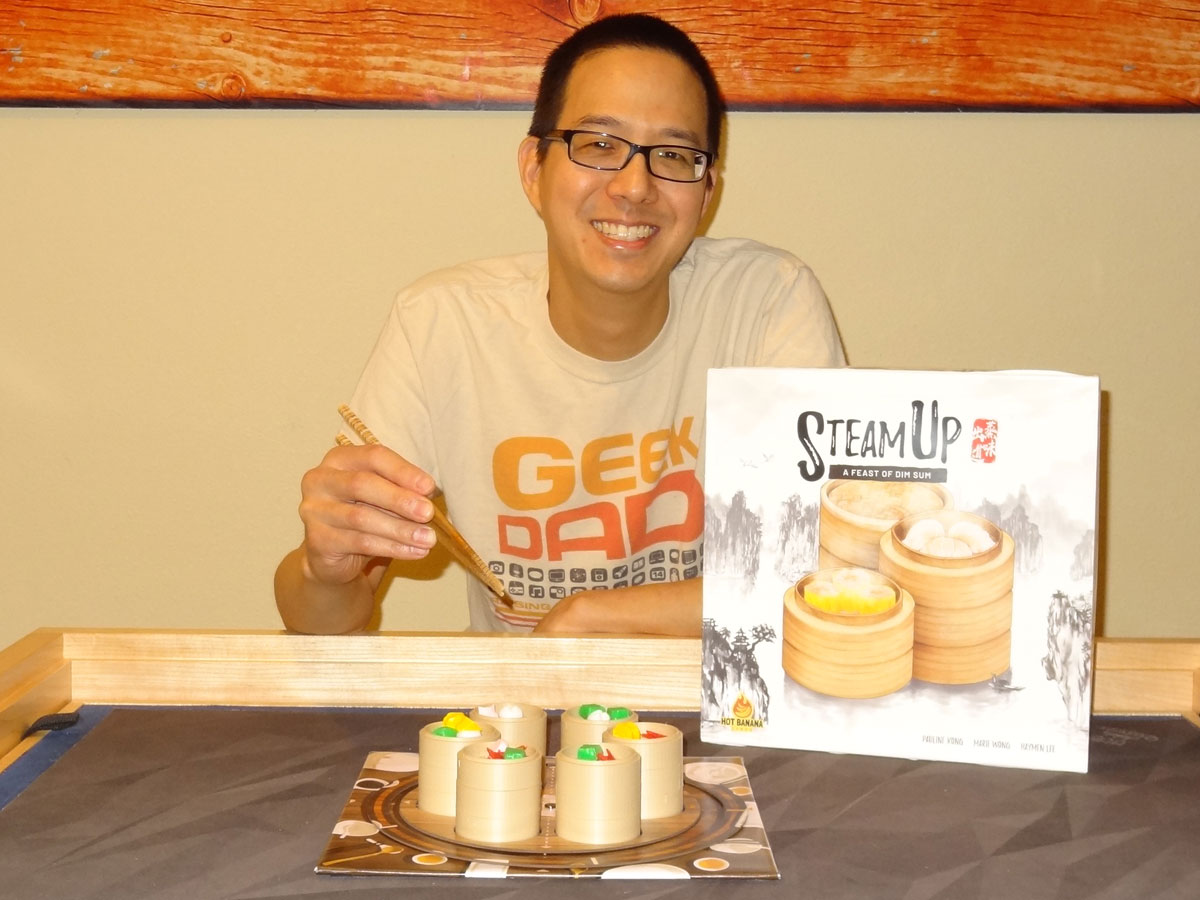 Jonathan Liu with Steam Up box and steamers